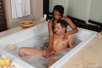 Nice-looking cuties going untamed with massage