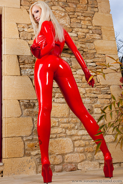 Shining Red Catsuit