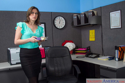 Addie juniper purchases nailed by a coworker in her cubicle