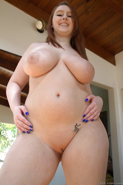 Fatty Felicia Clover posing her mammoth gazoo in compact belt underwear