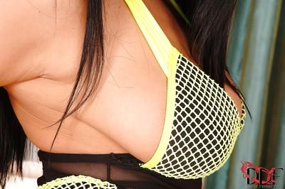 Desirable european floosie with impressive usual bra buddies gains rid of her