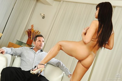Colossal European whore with marvelous milk shakes Aletta Ocean delivers unfit footjob