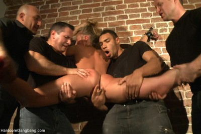Nice-looking Adolescent yr old russian fairy-haired obtains brutally team-fucked