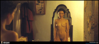 Emily Browning takes a skintastic total frontal curve in Sleeping Angel
