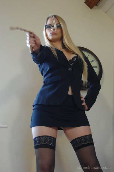 Raging advisor Miss Elise takes her clothes off to nylons and shows her goodies