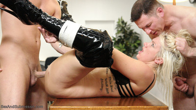 Slave secretary does doesn`t matter what to keep her job: intense anal, dualistic penetratio