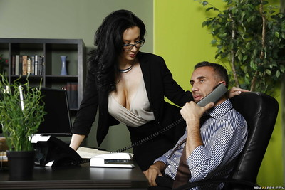 Milf dark brown with massive woman passports Jayden Jaymes has love making act in the office