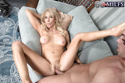Rounded fairy gran Erica Lauren rides penis cowgirl style even as hardcore fucking action