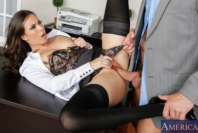Casey comes fond of the office to accept Ramon for their interaction and finds him sleeping on his desk. This babe gives him a fabulous wake up by dropping her briefcase on his desk then scolds him for not being equipped for the meeting. They swop stories