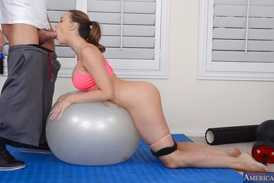Dazzling yoga delicate whore Chanel is drilled in all her holes