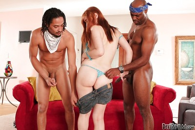 Angel Violet Monroe is being banged in interracial style
