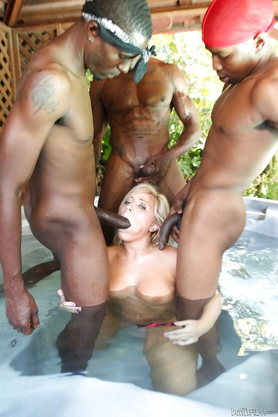 Interracial groupsex from a fuckfest paramour Heidi Hollywood