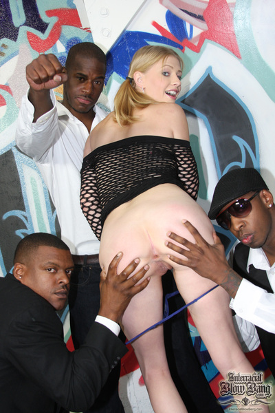 Enthusiastic white courtesan not in condition guess to acquire team-banged by 8 ebon boys