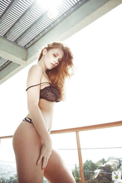 Rounded model Leanna Decker erotic dance off her underware and pleasant a washroom