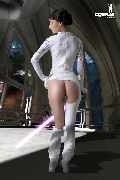 Marylin gives impression amidala from star wars in this cosplay erotica