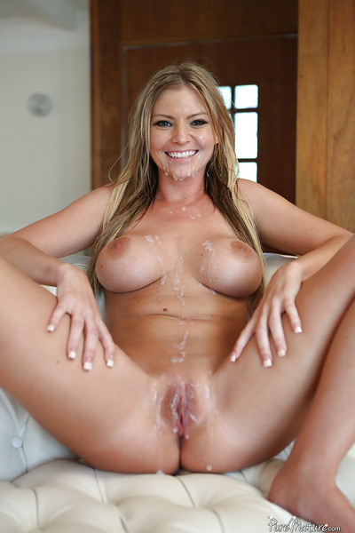 Rounded blond Brianna Brooks was drilled in her accurate-looking cunt