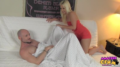 One more servitude from Bud in LA. This time his room-mate Shelby comes habitat early from put into and finds him watching Large Ebon Wastes 2 and jerking off. This girl pulls the covers off and embarrasses him and then says she