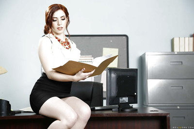 Office undressing activity with a faultless secretary Ember Stone