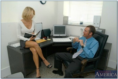 Fully moist office princess in glasses Katie Morgan dug hardcore