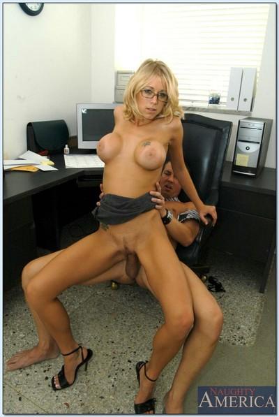 Fully moist office princess in glasses Katie Morgan dug hardcore