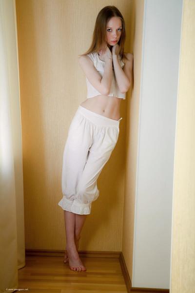 Striptease off on the floor