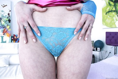 Fairy-haired pornstar Lucy Tyler flashing upskirt underclothing in