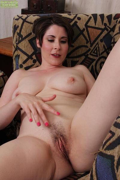 Melodious housewife Sadie Jones flashing swarthy underclothing previous to striptease