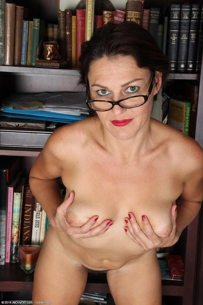 Rounded tutor removes clothes stripped in the library