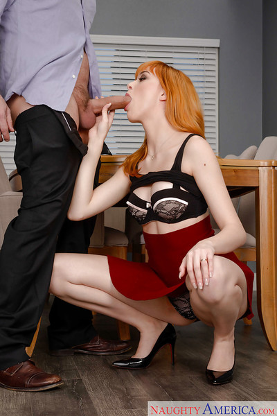 Hardcore office very featuring shiny on top twat of redhead Anny Aurora