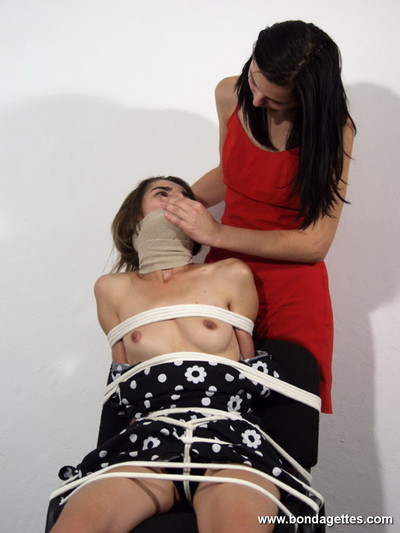 Woman-on-woman mistresse fixed up her attractive young subbie chicito and puni