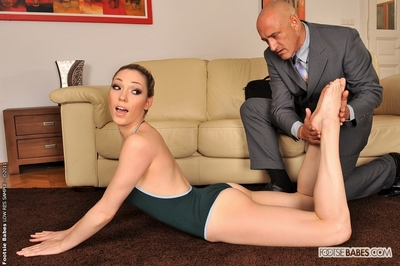 Lily LaBeau astonishingly with a foot adorer blessed chap