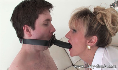 Grown face riding her submissive