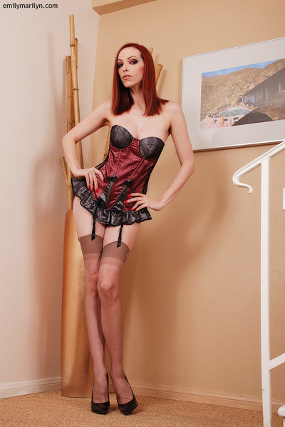 Extreme redhead fixation example Emily Marilyn in vintage