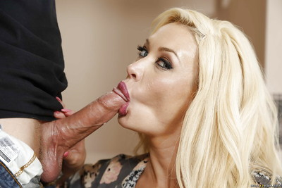 Largest boobed Latin babe cougar Summer Brielle gives youthful male untamed facefucking