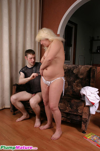Ready fairy-haired plumper gags on a unyielding black dick