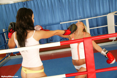 The hottest catfight erotica with double exclusively legal nubiles