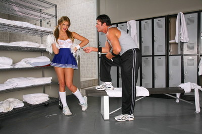 Excited adult baby cheerleader getting fucked in group