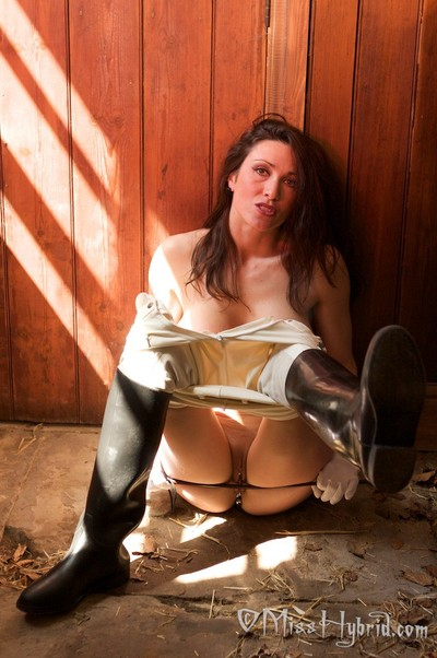 Getting unclothed in the stables