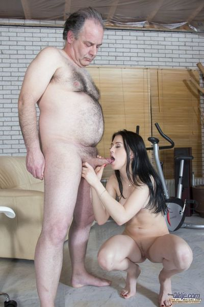 This fabulous lady takes gymnastics advice from Oldje but this babe looks as if that this babe doesnt satisfy to exercise. Well then, the granddad will make her sweat anyway... in his deviant dream! This dude slithers likes a imagining wish where this leg
