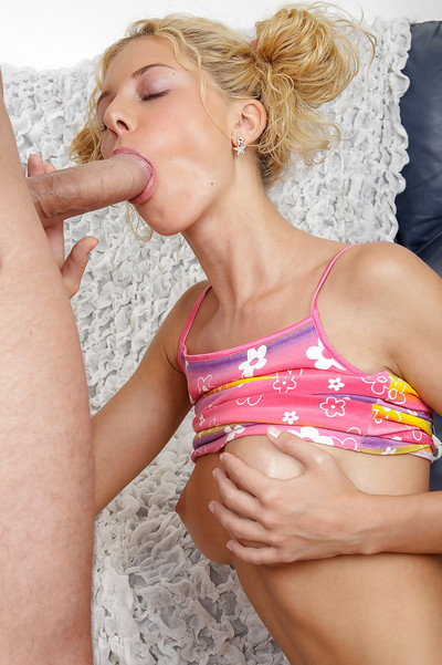 Fairy adolescent doxy bonks a weighty boner and takes a jizz flow on her penetrated tongue