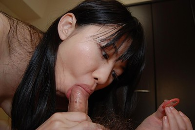 Erika Niiyama gives head and acquires her curly cunt shafted raw