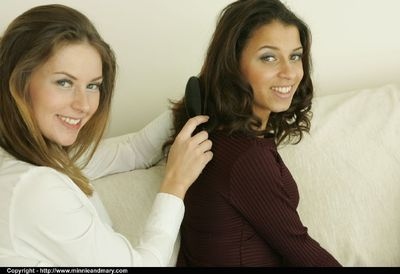 Amateur lesbian chicks mouth to mouth always other and uncovering their agreeable bodies