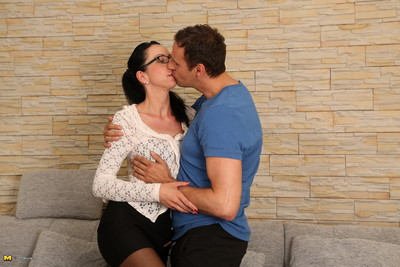 Sexually aroused german housewife playing with her aficionado