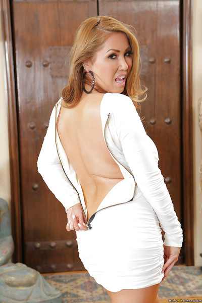 Japanese milf Kianna Dior has mammoth mounds and exceptional booties for a sticky activity