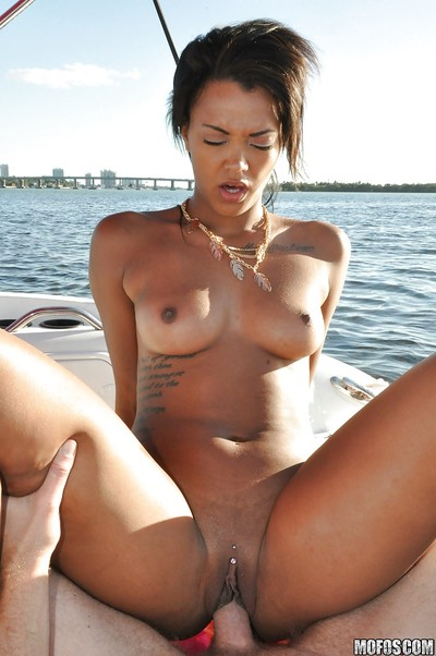 SMooth looking black courtesan Harley fond of to be deeply bawdy cleft gangbanged