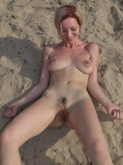 Willowy beach darling melok bare in public