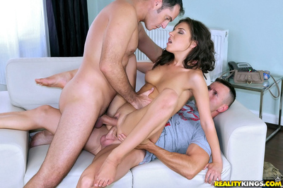 European infant with meaty deepthroat skills Henessy is leading gangbang