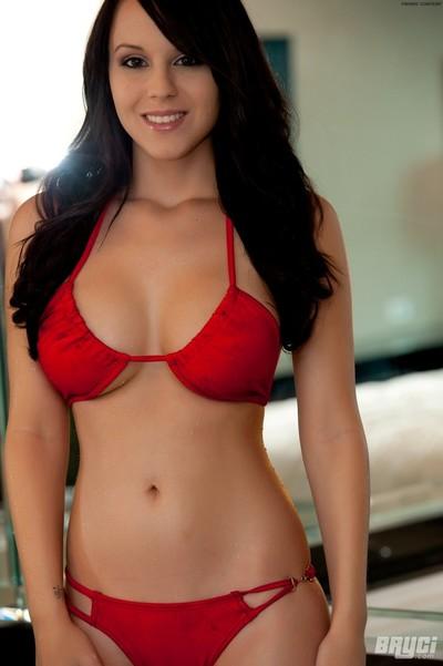Biggest boob cutie in bikini