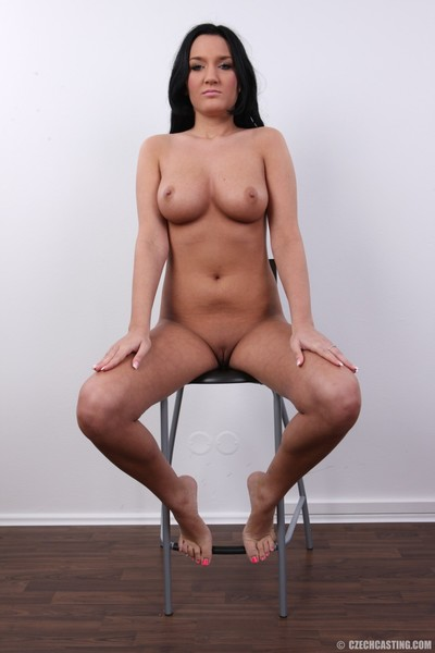 Rounded dark brown shows her largest billibongs in  casting pictures