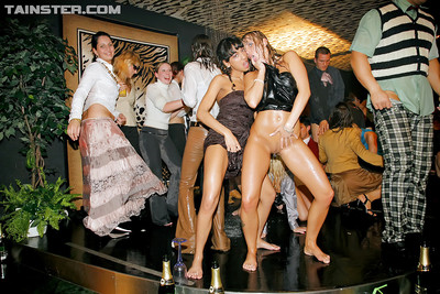 Sexually aroused european MILFs participate a hawt extremely covered fucking action groupie at the drunk all together